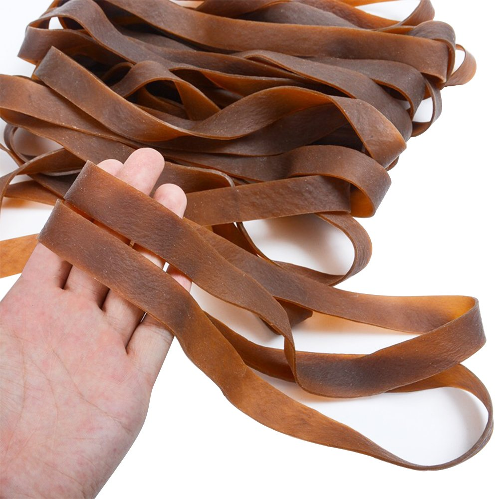 Big Rubber Bands Size:7.9 x 0.4In,1/4 lb per Pack, Natural, for School, Home Or Office [3 Packs] by Cedric Ben (Image #5)