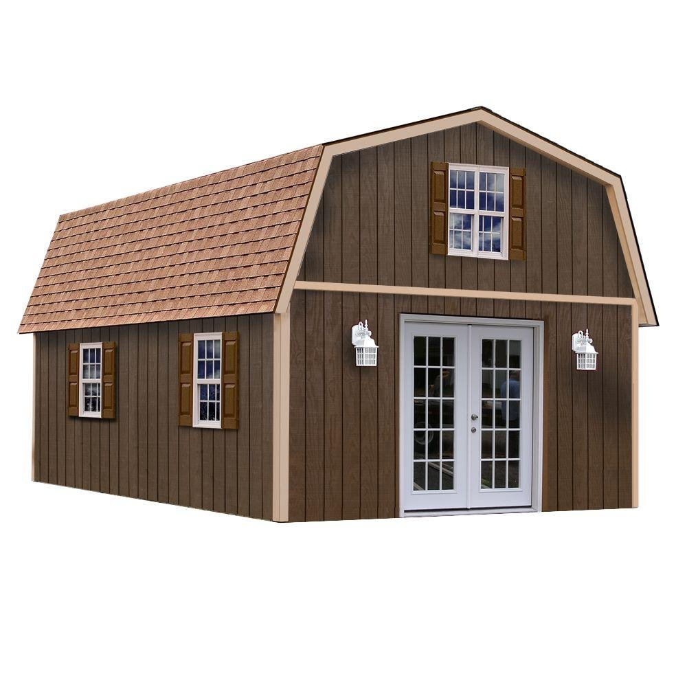 Amazon.com : Richmond 16\' x 28\' Barn Wood Shed Kit : Garden & Outdoor