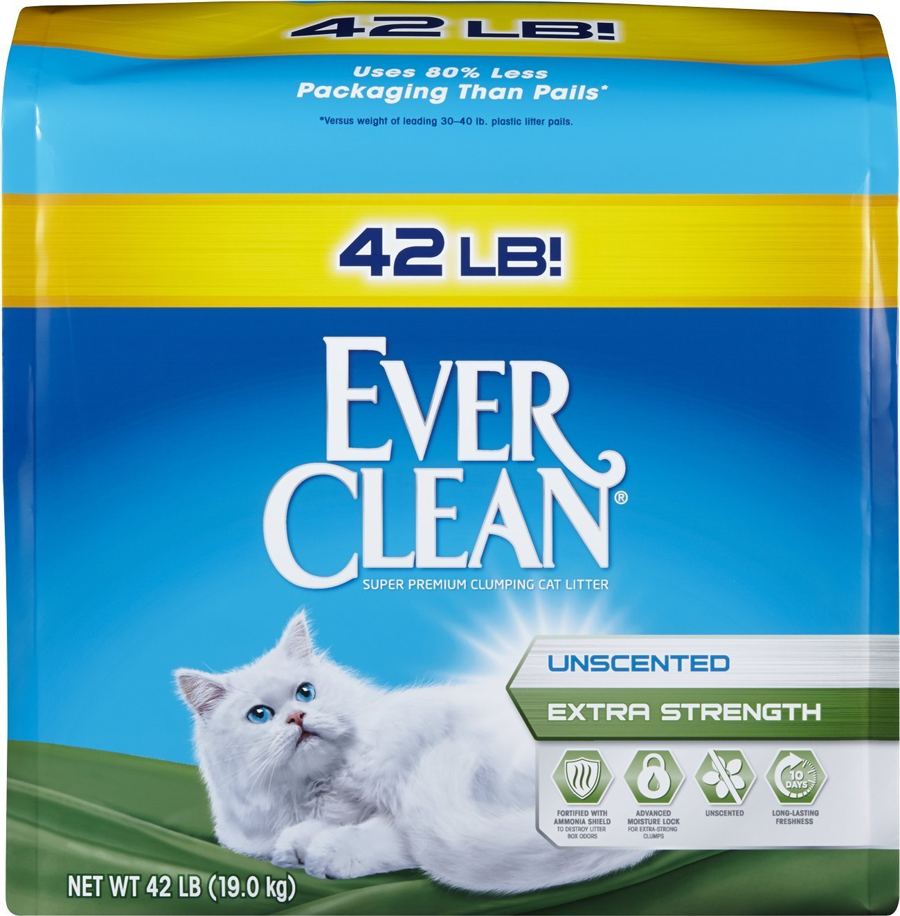 Ever Clean Extra Strength Cat Litter Unscented 42 Pounds
