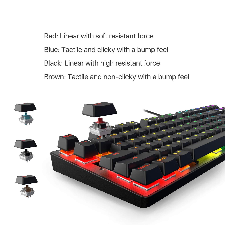 DREVO Tyrfing V2 87Key RGB Backlit Mechanical Gaming Keyboard Tenkeyless Programming Macro Media Control Software Support Outemu Linear Red Switch Black by DREVO (Image #6)