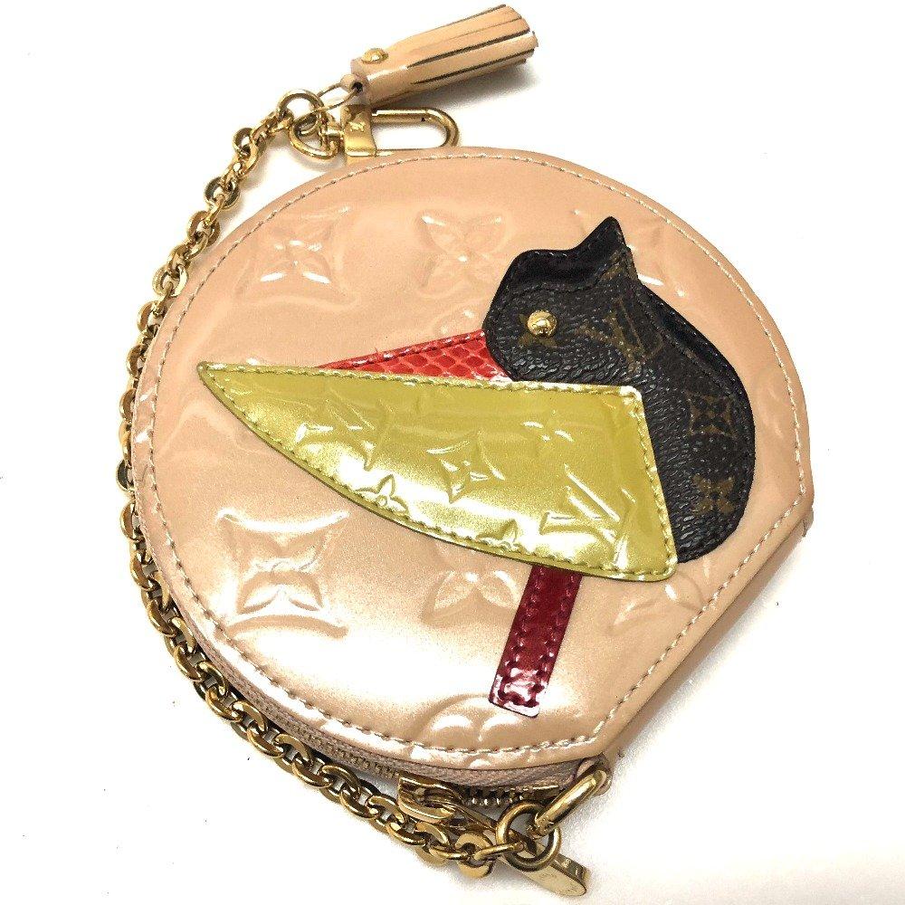 (ルイヴィトン) LOUIS VUITTON ポルトモネオワゾー モノグラムヴェルニ 財布 小銭入れ 鳥柄 コインケース ヴェルニ/レディース 中古 B07F8RVJDQ  -