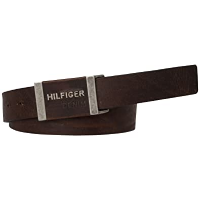 Tommy Hilfiger THD Leather Plaque Belt 3.5 W105 Testa di Moro