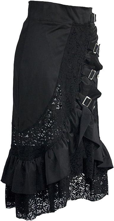 coswe Falda para mujer estilo vintage, steampunk, gótico, victoriano ...