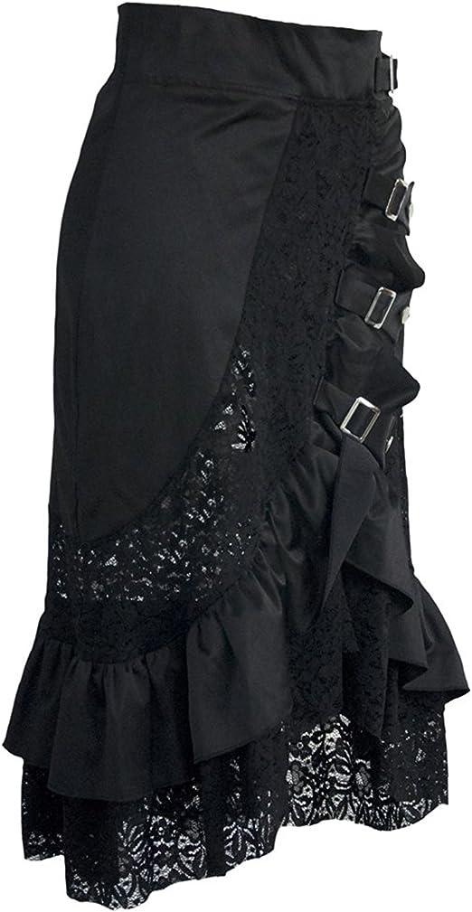 coswe Falda para mujer estilo vintage, steampunk, gótico ...