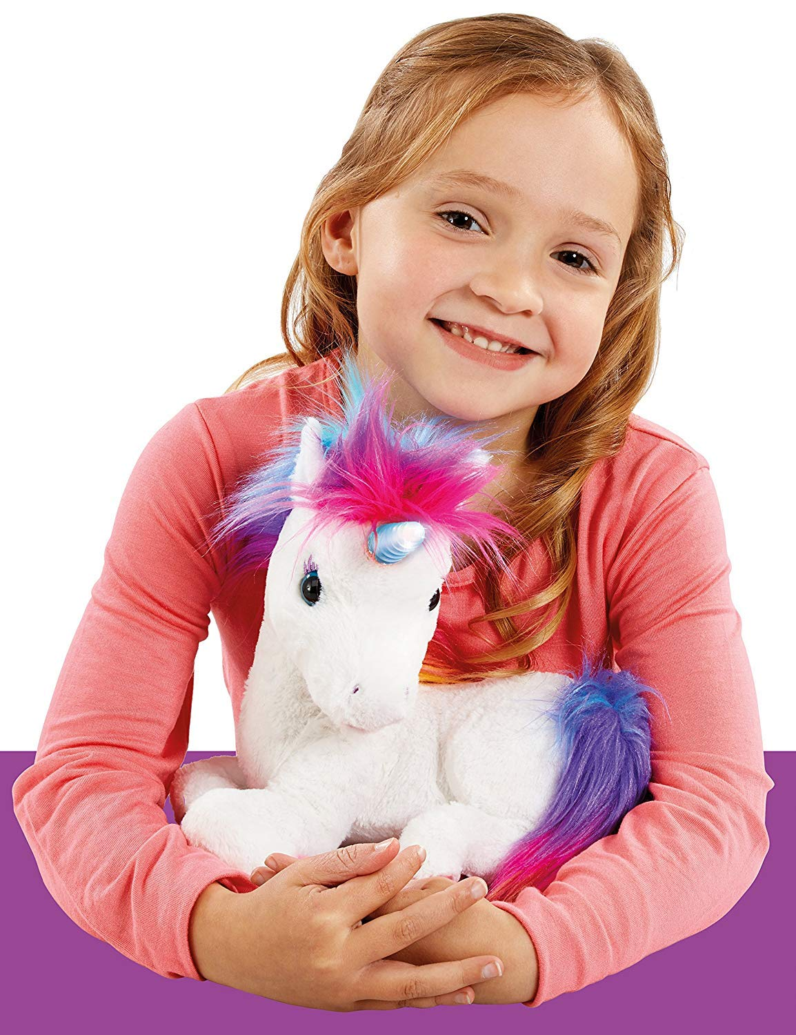 AniMagic Rainbow - My Glowing Unicorn, a Soft Unicorn Plush Toy with Glowing Horn and Unicorn Sounds 6