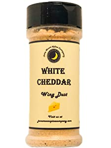 Premium | WHITE CHEDDAR Chicken Wing Seasoning Dry Rub | Large Shaker | Fat Free | Saturated Fat Free | Cholesterol Free | Crafted in Small Batches with Farm Fresh Herbs for Premium Flavor and Zest