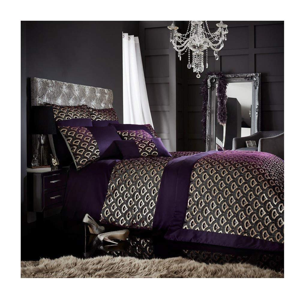 Black Tessella Sequin Cushion Cover 45x45 cm Crushed Velvet Inner for Outdoor Seat Insert Luxury Bed Chair