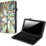 "Fintie RCA 11 Maven Pro / Cambio W1162 V2 / Cambio W116 Case, Premium Vegan Leather Folio Protective Stand Cover For 11.6"" RCA 11 Maven Pro/Cambio W1162 (V2) 11 inch Detachable Tablet, Love Tree"