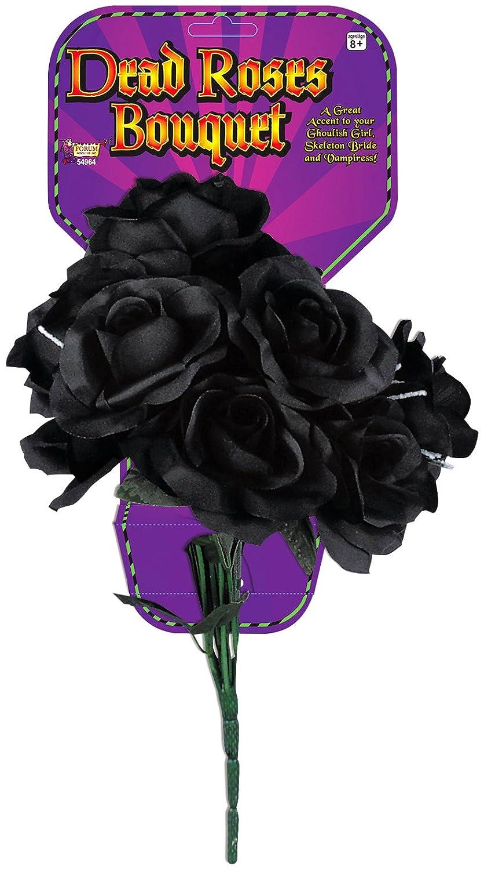 Amazon.com: Forum Novelties Dead Rose Bouquet, Black: Costume ...