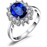 JewelryPalace Created 925 Sterling Silver Ring Multi Sizes Multi Gem for Women