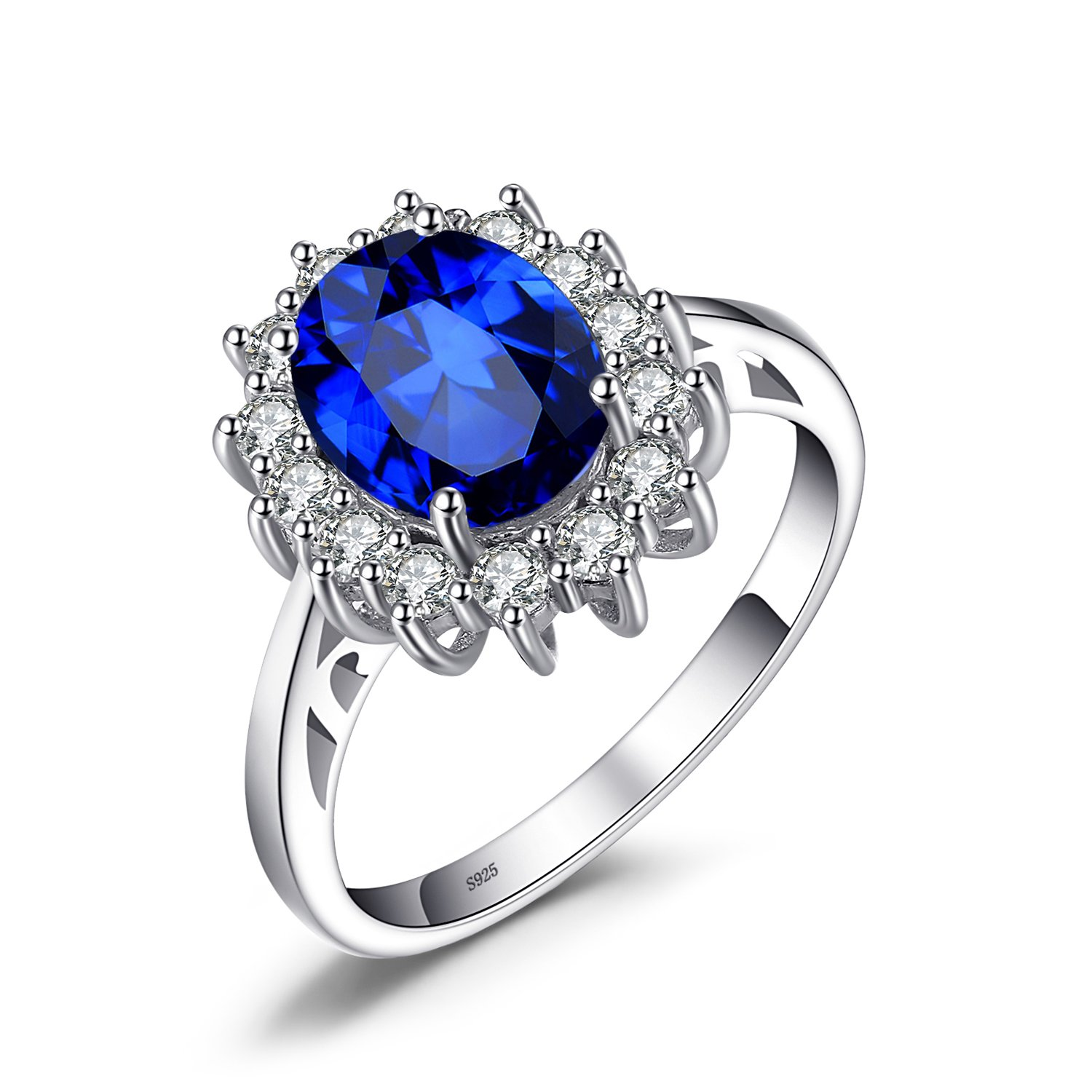 ring diana dp middleton com sapphire sterling jewelrypalace princess saffire amazon silver kate rings created blue engagement