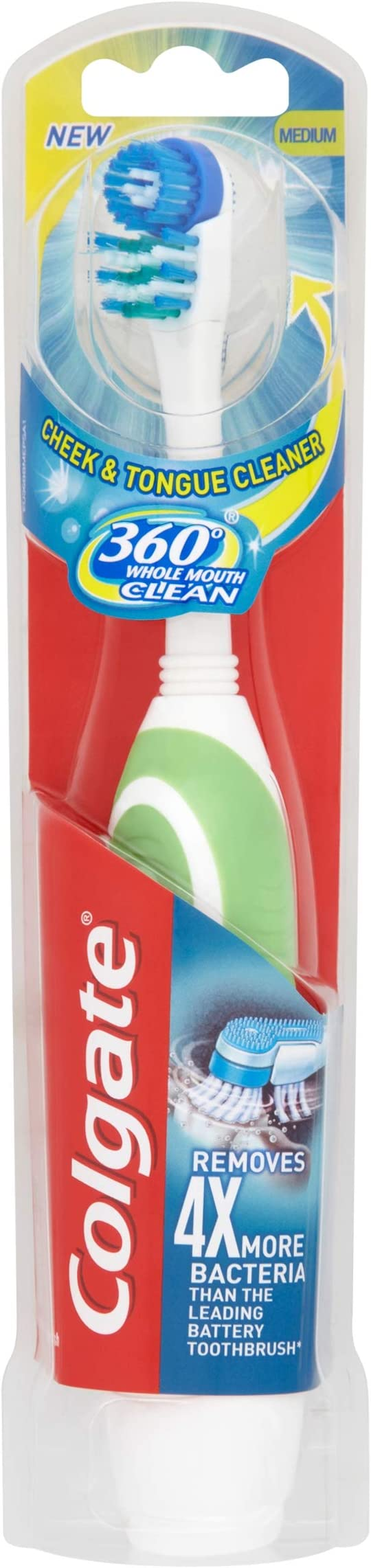 Colgate 360 Whole Mouth Clean Battery Powered Toothbrush (assorted Colors -Blue / Green / Pink / Purple),Colgate Palmolive Ltd,270075