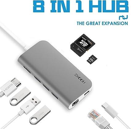 NEW USB Type C Hub HDMI 4K USB C Hub To Gigabit Ethernet Rj45 LAN Adapter Part