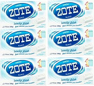 Zote Laundry Soap Flakes, 17.6 oz, Pack of 6