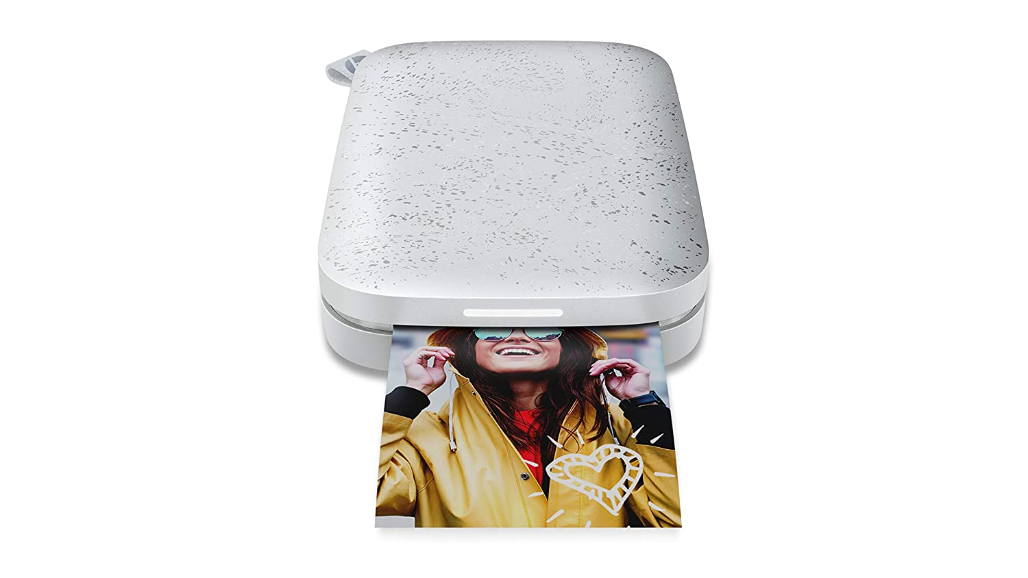 HP Sprocket Portable Photo Printer (2nd Edition) – Instantly Print 2x3 Sticky-Backed Photos from Your Phone – [Luna Pearl] [1AS85A] Hewlett Packard Inkjet Printers 1AS85A#B1H