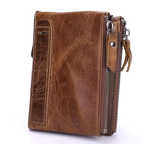 e6ea6e55e LWYJ Mens Genuine Leather Clutch Bag Handbag,Leather Wallet Men Wallet,Business  Men Wallet