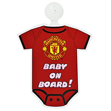 buy popular 2934d 19798 Manchester United FC Official Football Kit Baby On Board Car Window Sign