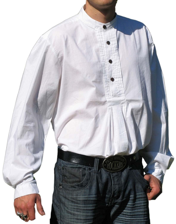 HEMAD Trachtenhemd weiß Pfoad Isar Baumwoll Hemd S-XXXL Oktoberfesthemd
