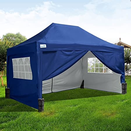 Quictent 3x4 5 Meter Navy Blue Pop Up Gazebo With 4 Leg Weight Bag Silvox  Coated Sidewalls and Roof Waterproof UV Proof With Wedding Party Tent