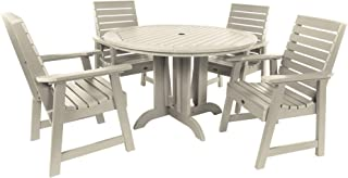 product image for highwood AD-DNW48-WAE Weatherly 5-Piece Round Dining Set, Height, Whitewash