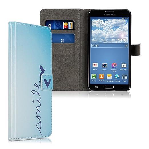 85 opinioni per kwmobile Custodia portafoglio per Samsung Galaxy Note 3 Neo- Cover a libro in