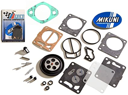 Genuine Mikuni Carb Carburetor Rebuild Kit & Base Gasket SeaDoo GS GTS GTI  LE SP
