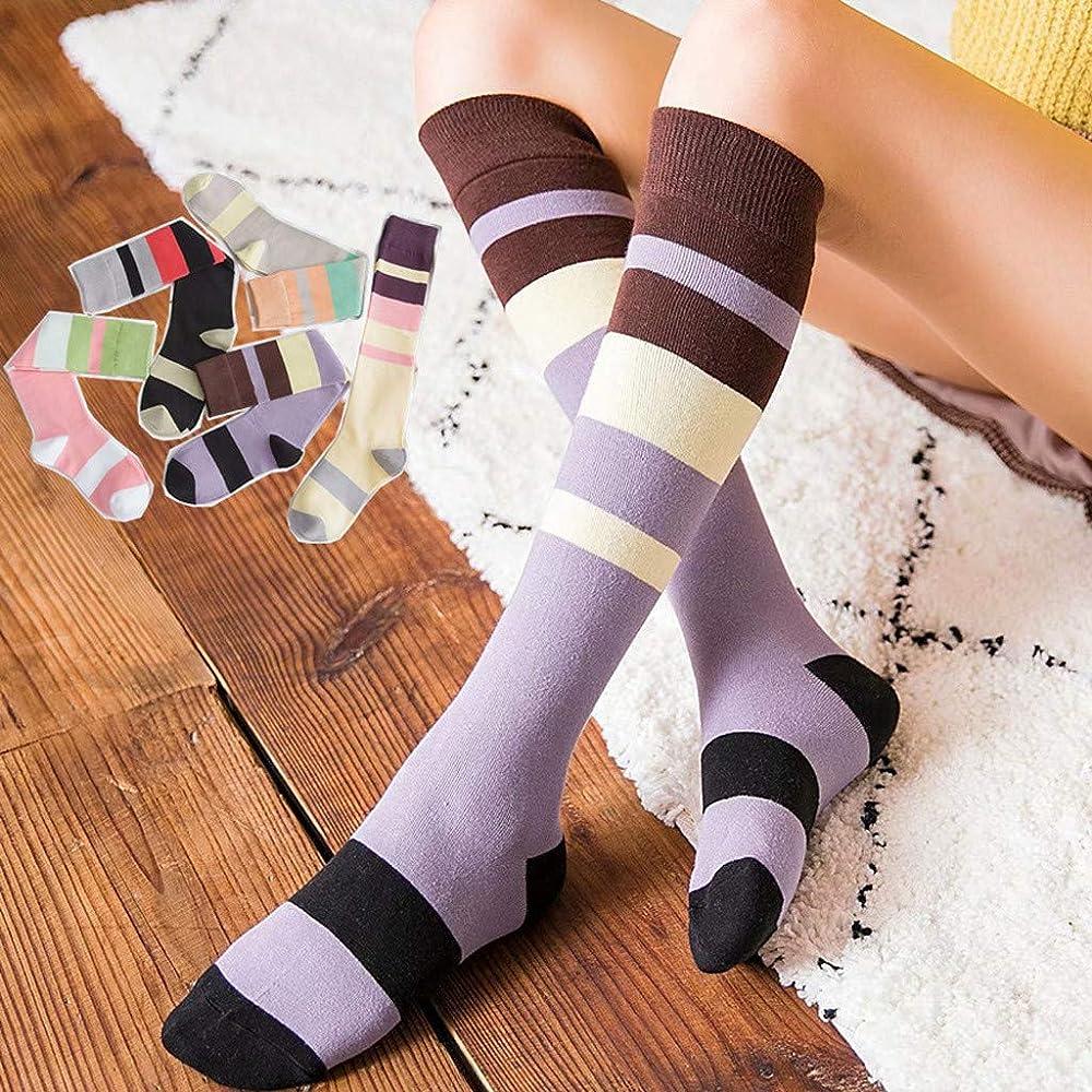 DEELIN Calcetines Con PuñOs Para Mujeres Rayas Medias Medias En Medio Tubo Calcetines De AlgodóN Moda EN Calcetines Para Niñas: Amazon.es: Ropa y accesorios