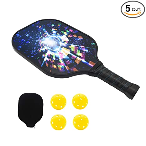 NINESUN Graphite Pickleball Paddles | Composite Honeycomb Core, Ultra Cushion Grip Pickleball Paddles Racquet |