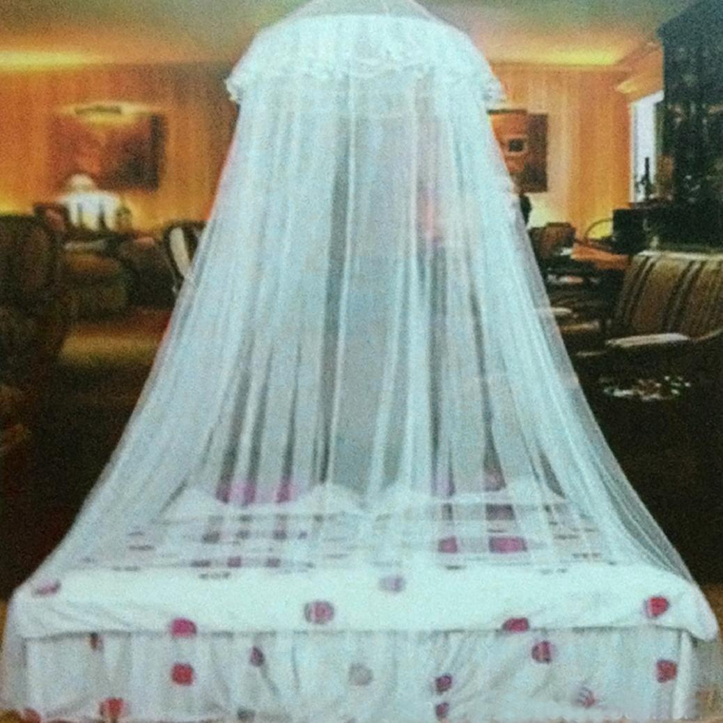 GeminiMall®, baldacchino/zanzariera per letto, baldacchino a cupola in rete rosa, White, taglia unica GeminiMall® Gemini_mall
