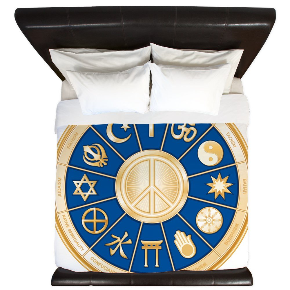 King Duvet Cover International Peace Symbol Religions by Royal Lion