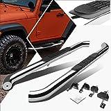 """Fit 07-16 Jeep Wrangler Jk//Jku 4Dr Chrome 3/"""" Side Step Nerf Bar Running Board"""