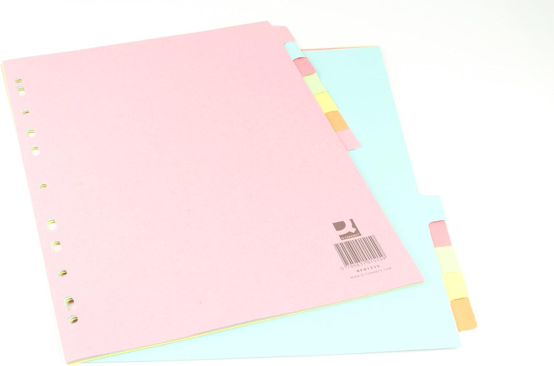 Q-CONNECT KF01515 - Separadores (A4, 12 unidades), multicolor