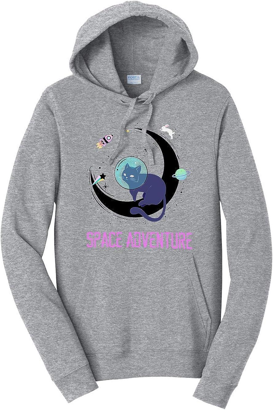 Tenacitee Unisex Cat-tronaut Space Adventure Hooded Sweatshirt