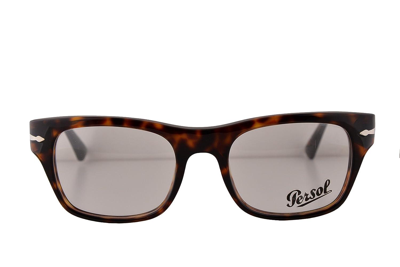 09dd625d105c9 Amazon.com  Persol PO3070V Film Noir Edition Eyeglasses 52-20-145 Havana 24  PO3070 (FRAME ONLY)  Clothing