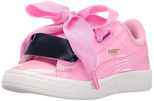 Puma Kids' Basket Heart Patent PS Sneaker