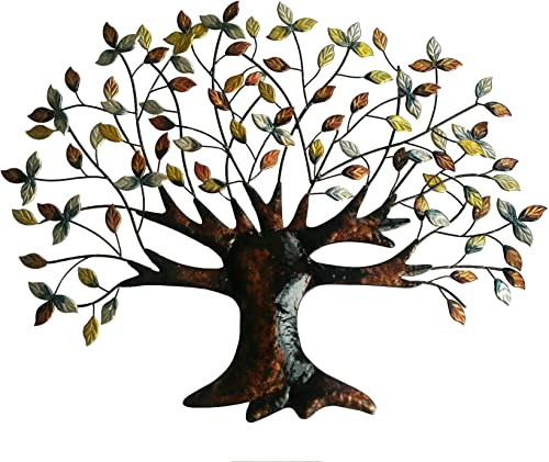 Tree of Life Wall Art Decoration – 30.5 Inch W x 24 Inch H – Made of Iron