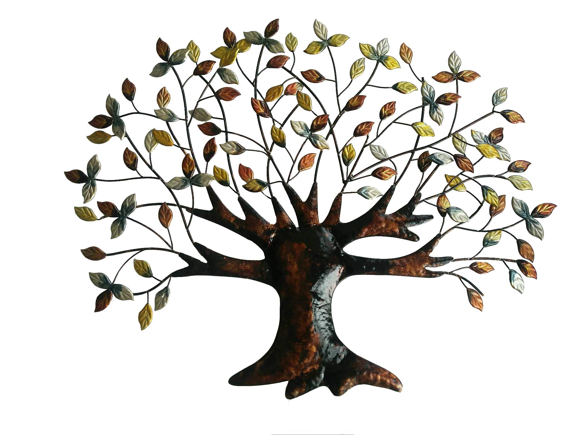 Tree of Life Wall Art Decoration - 30.5 Inch W x 24 Inch H - Made of Iron by Palos Designs