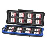 KetenTech Nintendo Switch ゲームカードケース 32枚収納可能 16枚(For Switchゲームカード)+16枚(For Micro SDカード)任天堂 ニンテンドースイッチ カードケース マイクロSDカードケース 超防水防塵 保護装置
