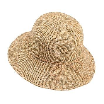 Sun Hat Sombrero de Paja Tejido Sombrero de Pescador de Sombrero ...