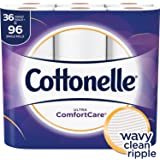 Cottonelle Ultra ComfortCare Toilet Paper, Soft Bath Tissue, 36 Family Rolls+