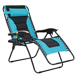 PHI VILLA Oversize Recliner - With Cup Holder - 29 Inches across - 350Lbs - 5 Colors