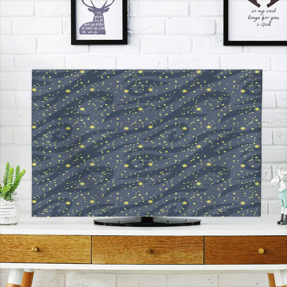 Analisahome Television Protector Many Bright Stars in The Night Sky can be Used for Wallpaper Textile Television Protector W30 x H50 INCH/TV 52''