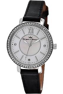 Quarz 049s Dcp Leder Norm Mit Armband Uhr Yonger Damen Datum amp;bresson O0w8nkP