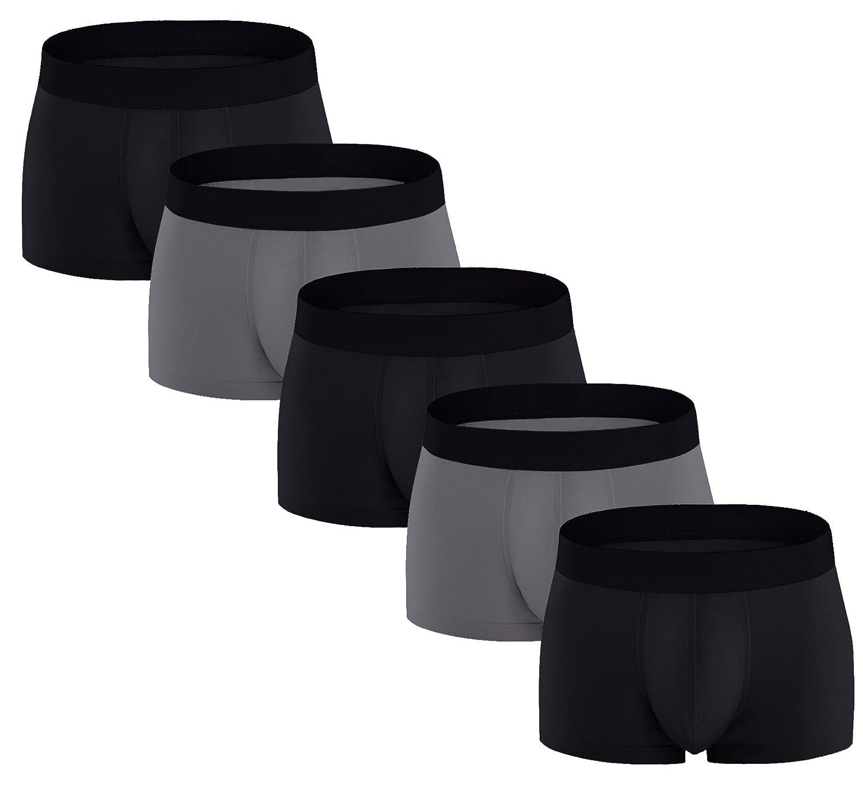 ASERLIN Men's 5 Pack Boxer Briefs Short Legs Underwear Men's Pure Cotton Underwear