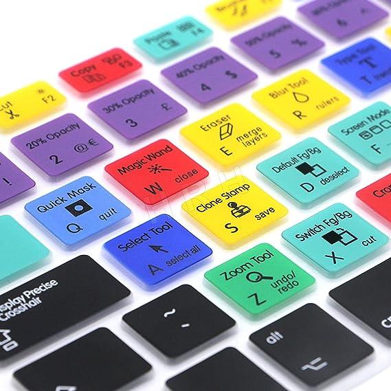 17 amerikanische und europ/äische ISO Tastatur sowie iMac drahtlose Tastatur Photoshop PS EU-Layout Moderne Tastaturabdeckung f/ür MacBook Air 13 und Macbook Pro 13 15