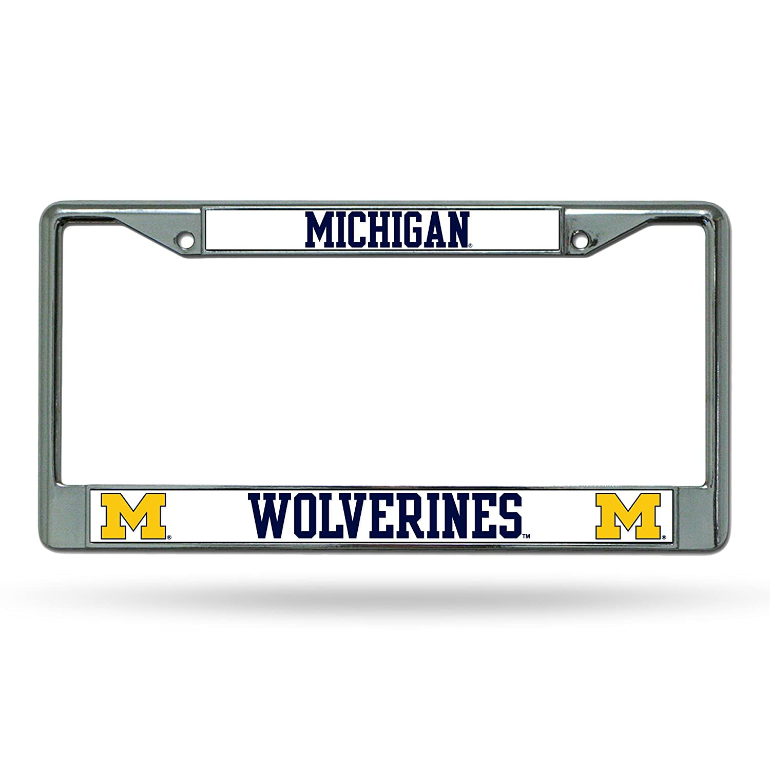 Rico Industries-Tag Express Michigan Wolverines Chrome License Plate Frame