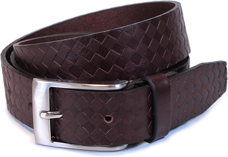 Mens Geniune Leather Dark Brown Belt L M S Thick Casual Jean Dress Boy 1.1 Wide