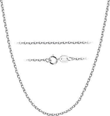 Besteel 1.5MM Collar Plata de Ley Cadena para Hombre Mujer Fino ...