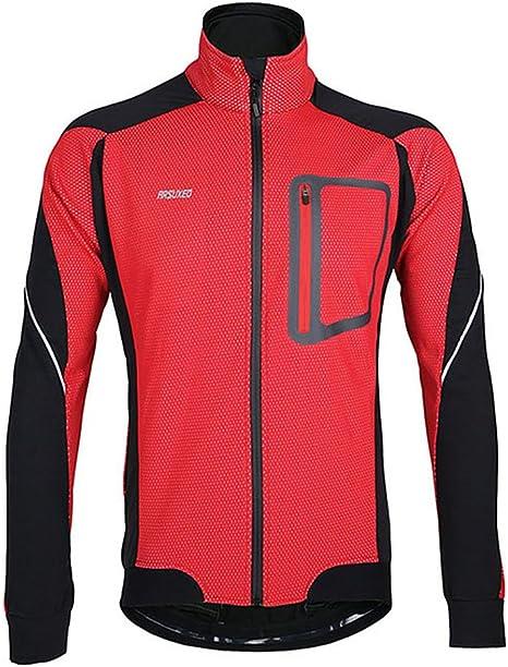 ARSUXEO Hombres de polar térmico otoño invierno ciclismo chaqueta ...