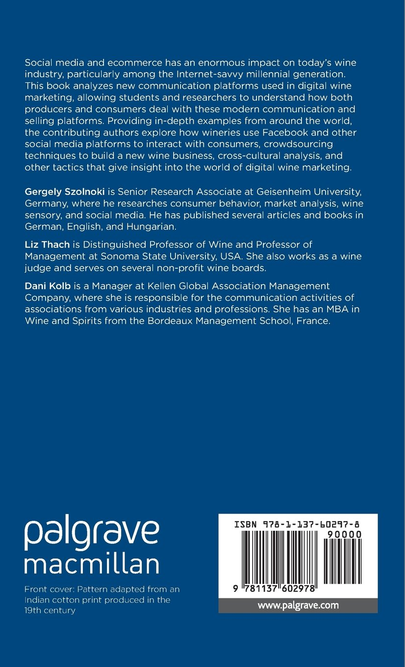 Successful Social Media and Ecommerce Strategies in the Wine Industry by Palgrave Macmillan
